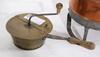 Kopparkittel samt kaffemalare, 1800-tal.
