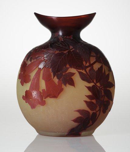An emile gallé art nouveau cameo glass vase, france.