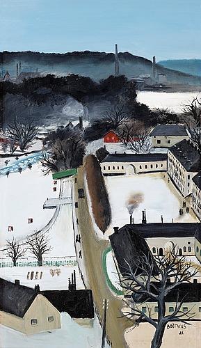 Lars boëthius, karlbergs slott i vinterskrud.