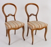 Stolar, ett par. nyrokoko. 1800-talets slut.