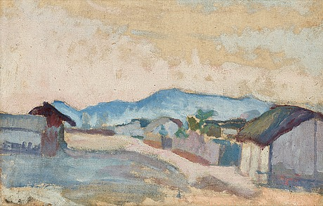 "Ivan aguéli, ""bergsby"" (mountain village)."