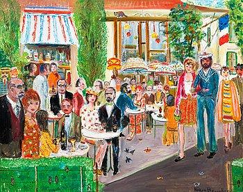 "87. Håkan Brunberg, ""SUNDAY IN A FRENCH TOWN.""."