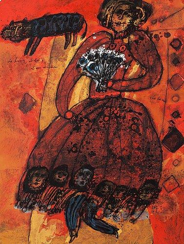 """Theo tobiasse, """"six hommes, un chat, et une danseuse""""."""