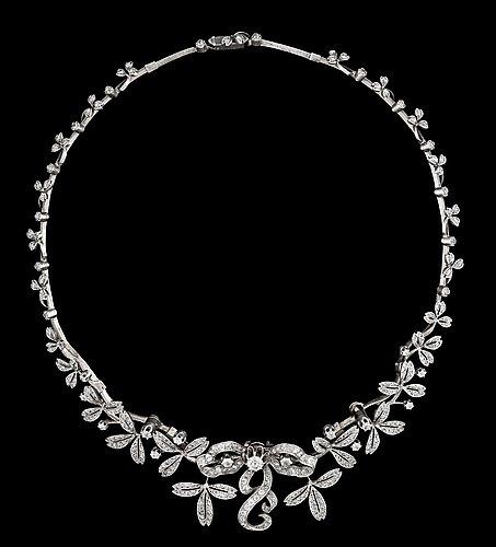 A set of diamond jewellery, second half 19th century.