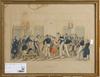 Parti tryck, 4 st, 1800-tal.