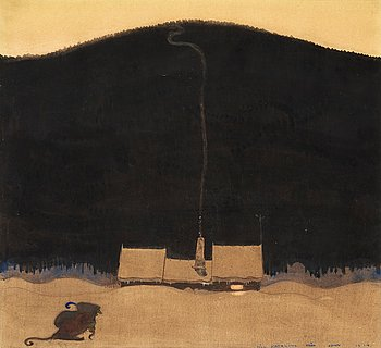 """14. John Bauer, """"Stugan vid bergets fot"""" (The cottage at the foot of the mountain)."""