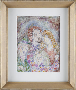 NILS VON DARDEL, akvarell, intyg á tergo.