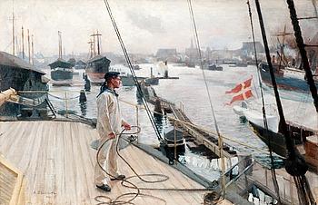"""212. ALBERT EDELFELT, """"FROM  THE PORT OF COPENHAGEN I""""."""