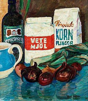 """3. Axel Nilsson, """"Stilleben med lökar"""" (Still life with onions)."""