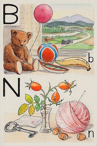"Elsa beskow, ""b-björn och n-nypon""."