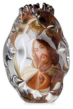 727. A unique Per B Sundberg 'fabula' glass vase, Orrefors 2003.