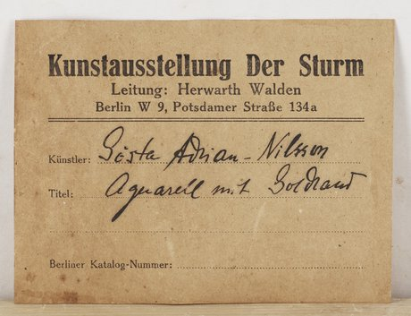 "Gösta adrian-nilsson, ""aqvarell mit goldrand"" (watercolor with gold stripe)."