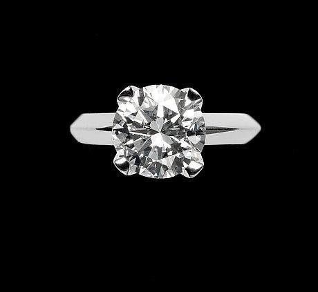 A brilliant cut diamond ring, 2.36 cts. cert. igi.