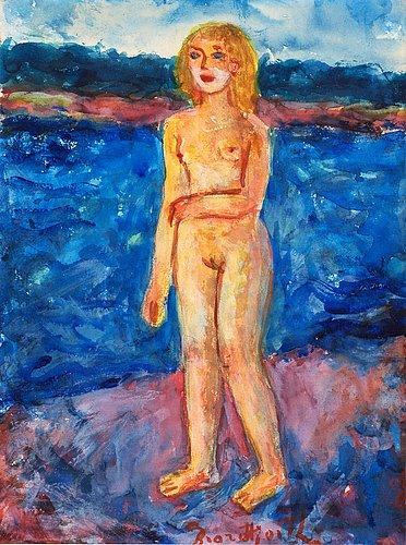 Bror hjorth, girl by the sea.