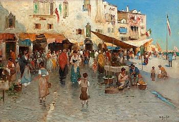 """135. WILHELM VON GEGERFELT, """"Fisktorg från Chioggia"""" (Fish market from Chioggia)."""