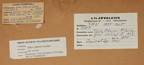 "Gösta adrian-nilsson, ""grå relief ii""."