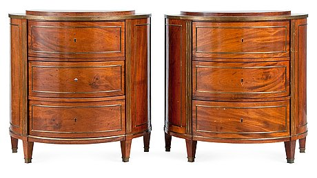 Cupboards, a pair.