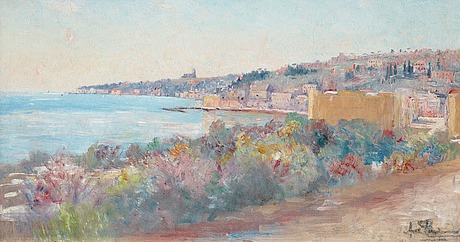 Axel lindman, view of nice, france.