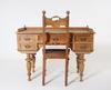 Skrivbord med stol, nyrenässansstil, 1900-tal.