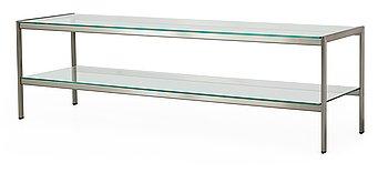 105. A Gae Aulenti 'Sanfedele' glass and aluminium sideboard by Zanotta, Italy.