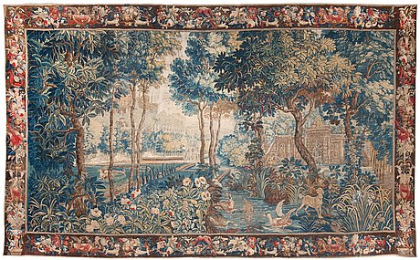 Tapestry. tapestry weave. 298,5 x 508 cm. france beginning of the 18th century.