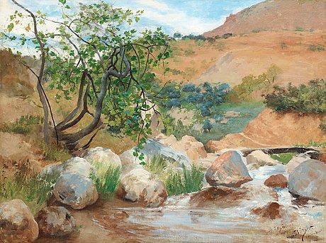 Hugo birger, landscape from sierra nevada, spain.