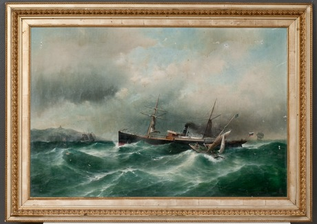 Carl fedeler, s/s capella on a stormy sea.