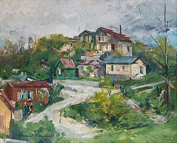 1. Constantine Korovine, VIEW OF THE VILLAGE.