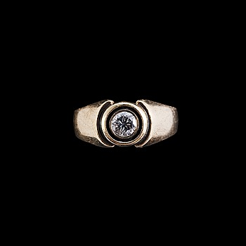 48. RING, en briljantslipad diamant ca 0,3 ct.