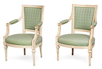 9. EASY CHAIRS, A PAIR.