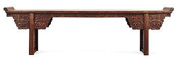 1671. A Hardwood Long Table (Jiaotousun Qiaotouan), 17/18th Century, presumably Huanghuali.