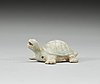 A pale celadon glazed figurine of a turtle, song dynasty (960-1279).