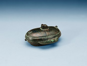 1615. A ritual bronze drinking vessel, Han dynasty (206 BC - 220 AD).