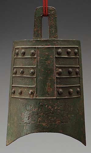 A archaistic bronze bell, presumably ming dynasty (1368-1644).