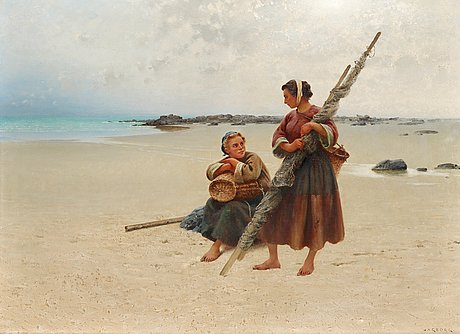 August hagborg, oyster picking, brittany.