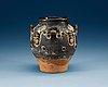 A black glazed jar, tang dynasty (618-907).