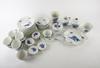 """Kaffeservis, 42 delar, porslin, royal copenhagen """"blå blomst""""."""