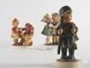 Figuriner, 3 st, porslin, hummel
