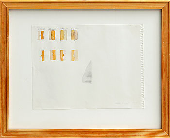 CECILIA EDEFALK, blyerts/akvarell på papper, sign och dat 97-99.