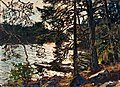 GOTTFRID KALLSTENIUS, A FOREST TORRENT. Sig...