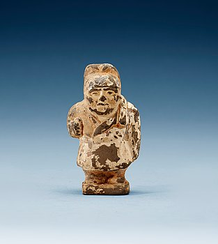 1611. A small potted figure of a man, Han dynasty (206 BC - 220 AD).