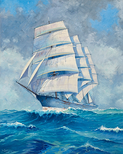 """Alfred collin, """"the training ship abraham rydberg""""."""