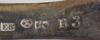 Div matskedar, 10 delar, silver, 1700/1800-tal.