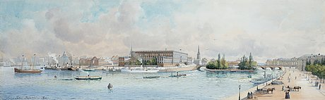 Anna palm de rosa, panoramic view over the royal palace in stockholm.