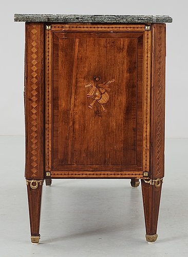 A gustavian commode by n. p. stenström, not signed.