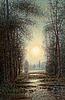 Per ekström, landscape with sunset.