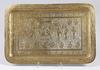Bricka, mässing. 1800/1900-tal, sydostasien.
