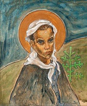 257. Akseli Gallen-Kallela, GIRL FROM RUOVESI.