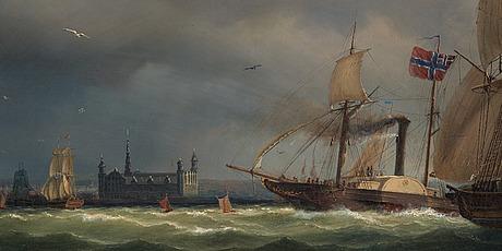 """Marcus larsson, """"vy av Öresund""""."""