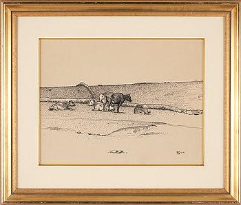 NILS KREUGER, teckning, monogramsign och dat 1894.